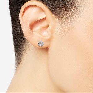 Jewelry - Diamond love knot stud earrings